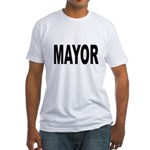 Mayor (Front) Fitted T-Shirt