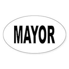 Mayor Oval Decal