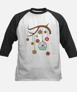 Birdcage And Flowers Baseball Jersey