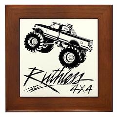 Ruthless 4x4 Monster Truck Framed Tile