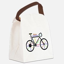 Bike made up of words to motivate Canvas Lunch Bag