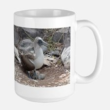Blue-footed Booby with Baby Galapagos Mugs
