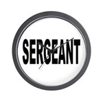 Sergeant Wall Clock