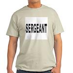Sergeant (Front) Ash Grey T-Shirt