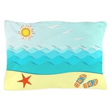 Fun Beach Pillow Case
