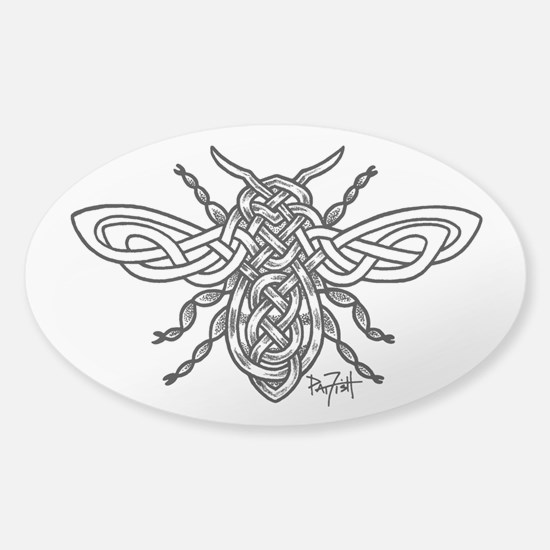 Celtic Knotwork Bee - black lines Bumper Stickers