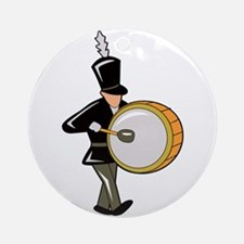 bass drummer marching black abstract Ornament (Rou