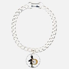 bass drummer marching black abstract Bracelet