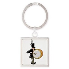 bass drummer marching black abstract Keychains