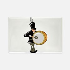 bass drummer marching black abstract Magnets