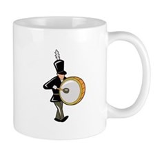 bass drummer marching black abstract Mugs