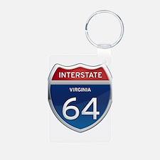 Interstate 64 Keychains