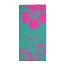 Floral Hibiscus - Customized Beach Towel
