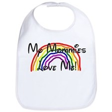 Rainbow Love Mommies Bib