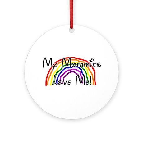 Rainbow Love Mommies Ornament (Round)