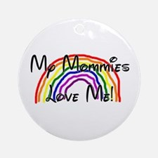 Rainbow Love Mommies Ornament (Round)