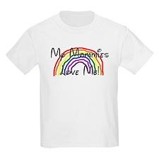 Rainbow Love Mommies Kids T-Shirt