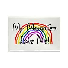 Rainbow Love Mommies Rectangle Magnet