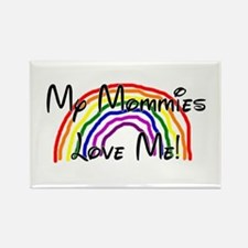 Rainbow Love Mommies Rectangle Magnet