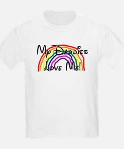My Daddies Love Me Rainbow Kids T-Shirt