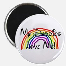 My Daddies Love Me Rainbow Magnet