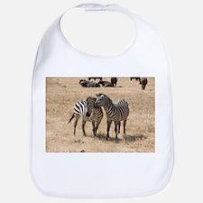 Zebras Loving Bib