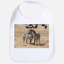 Zebras Laughing Bib