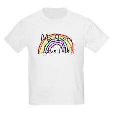 Rainbow Love Aunts Kids T-Shirt
