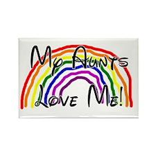 Rainbow Love Aunts Rectangle Magnet