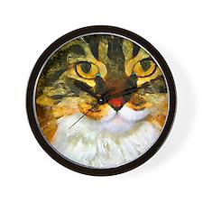 Kitty Close-Up Wall Clock