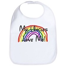 Rainbow Love Uncles Bib