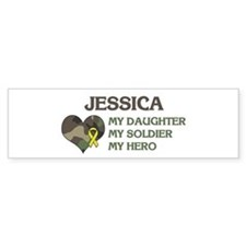 Jessica: My Hero Bumper Car Sticker