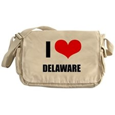 I Love Delaware Messenger Bag