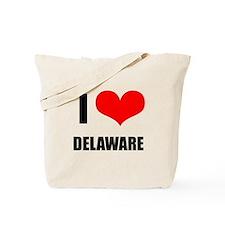 I Love Delaware Tote Bag