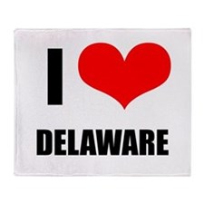 I Love Delaware Throw Blanket