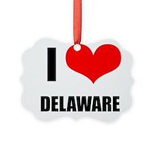 I Love Delaware Ornament