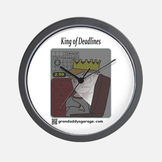 King of Deadlines Wall Clock