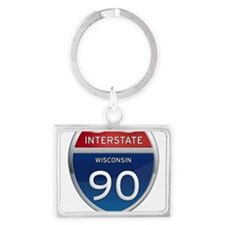 Interstate 90 Keychains