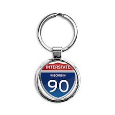 Interstate 90 Keychains