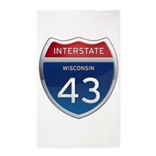 Interstate 43 3'x5' Area Rug