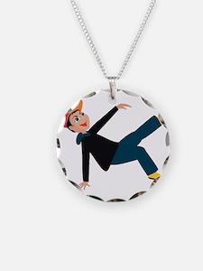 breakdancing boy graphic Necklace