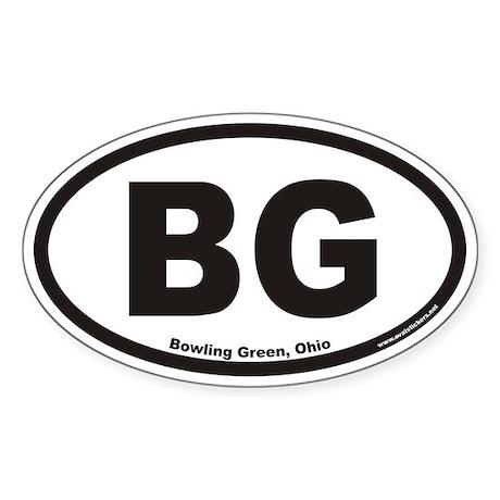 Bowling Green BG Euro Oval Sticker