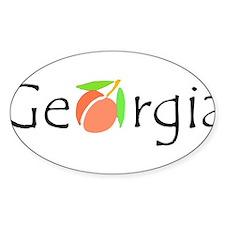 Georgia Peach Oval Decal