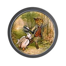 The Fox and Jemima Puddle-Duck Wall Clock