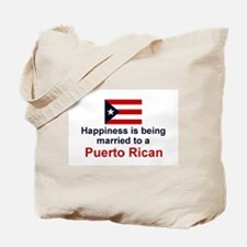Happily Married To Puerto Rican Tote Bag