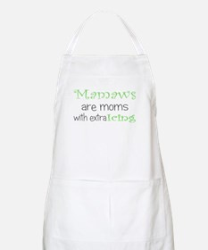 Mamaws with extra icing BBQ Apron
