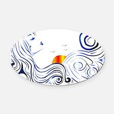 Ocean Lady Oval Car Magnet