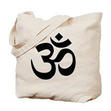 Black Om Symbol Tote Bag