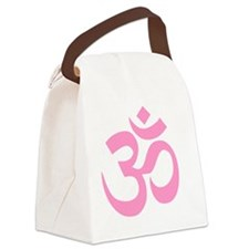 Pink Om Symbol Canvas Lunch Bag