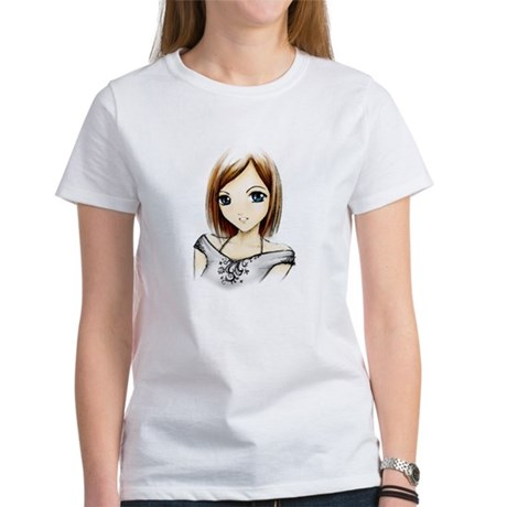 Cute Girl's Cap Sleeve T-Shirt